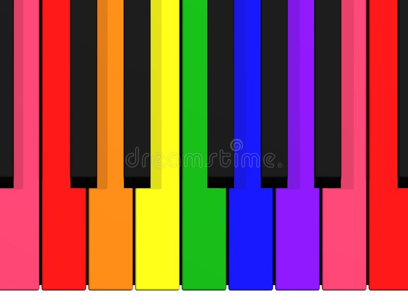 Rainbow Keyboard Royalty Free Stock Photography