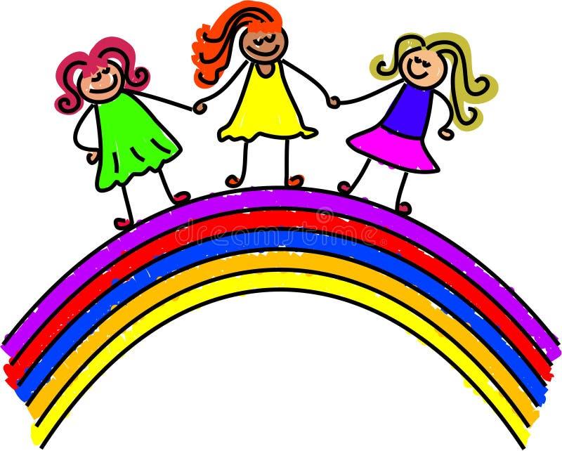 Rainbow kids royalty free illustration