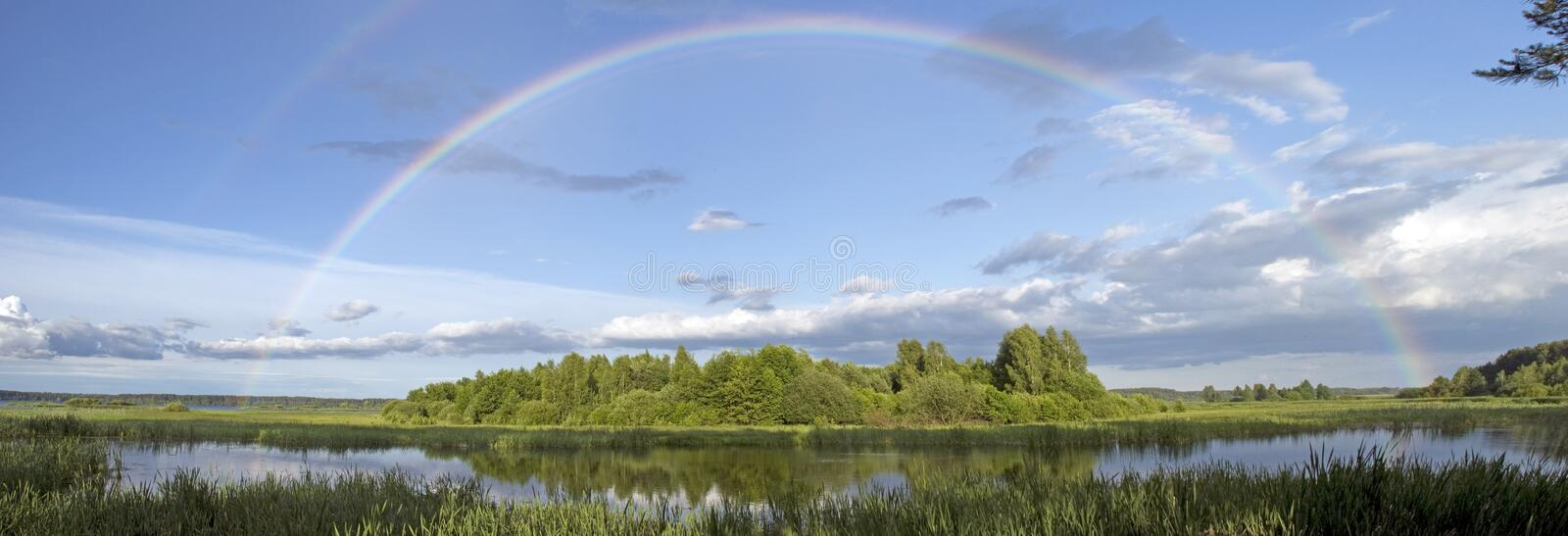 Rainbow landscape royalty free stock images