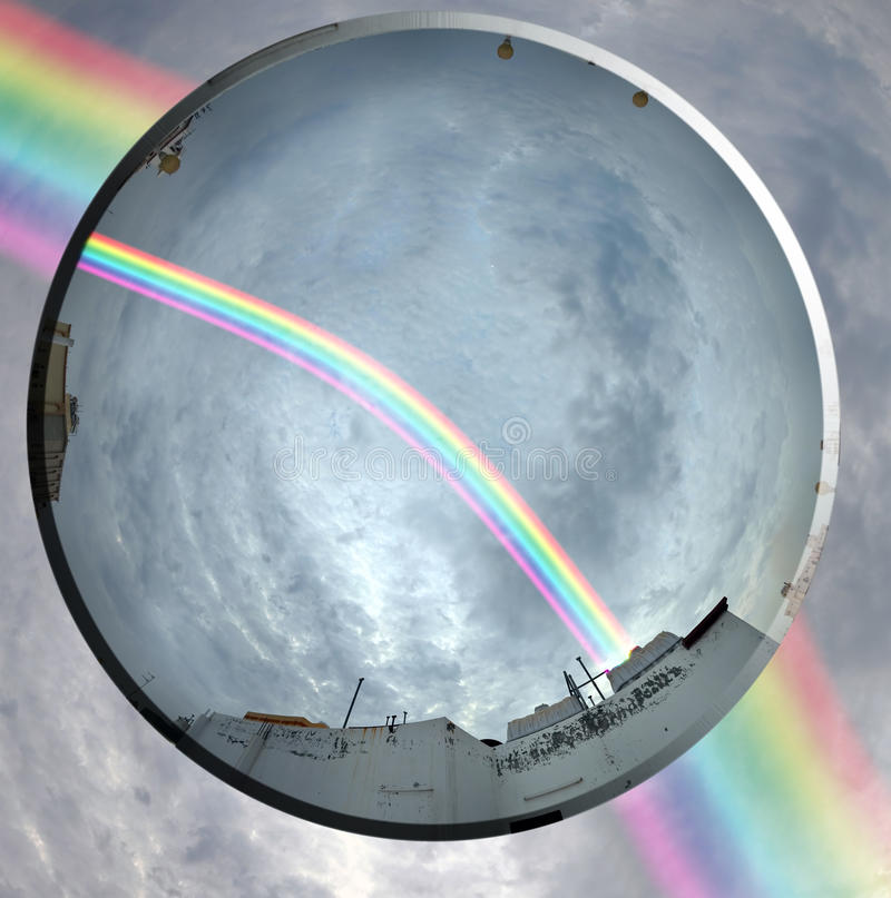 Download Rainbow and the lens stock image. Image of picture, rainbow - 21296573