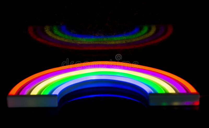 Rainbow Light With Black Background  royalty free stock images