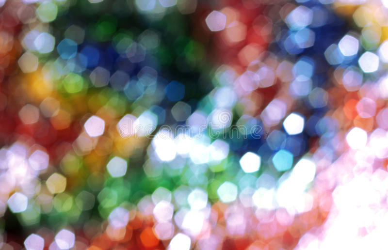 Rainbow light bokeh background stock photography