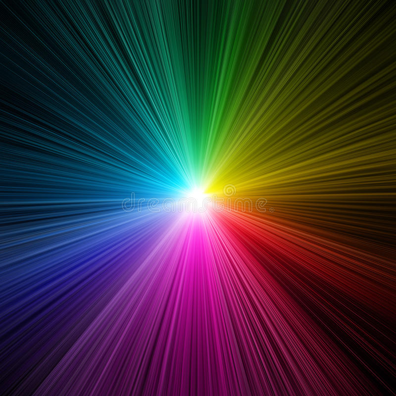 Rainbow light burst - prism royalty free stock image