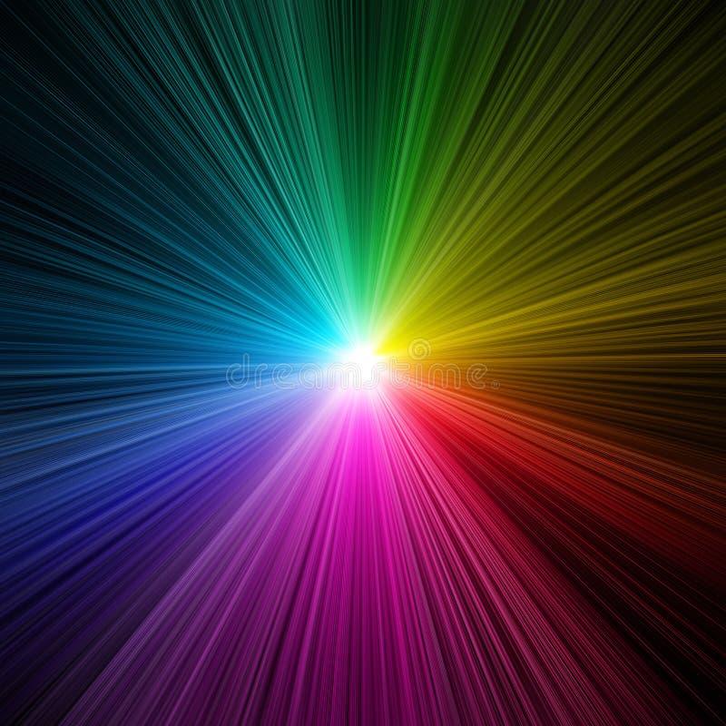 Rainbow light burst - prism royalty free illustration