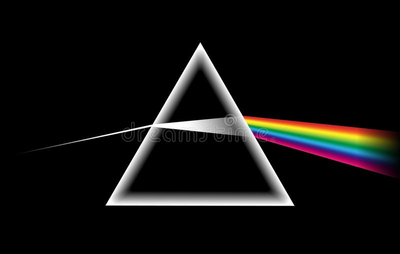 Rainbow light prism vector illustration