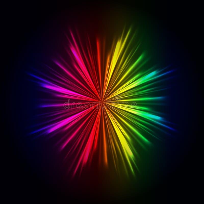 Rainbow light rays background, abstract colorful burst. Rainbow light rays background, vector abstract colorful burst vector illustration