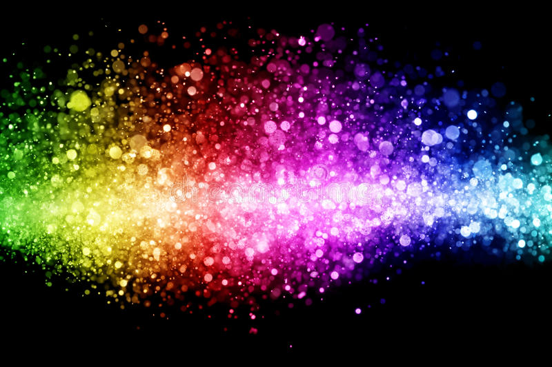 Rainbow of lights. Abstract background