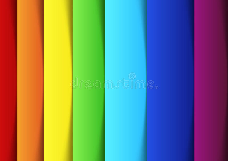 Rainbow lines - new banner template vector illustration