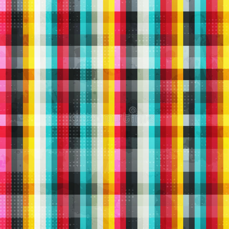 Rainbow lines seamless pattern with grunge effect royalty free illustration