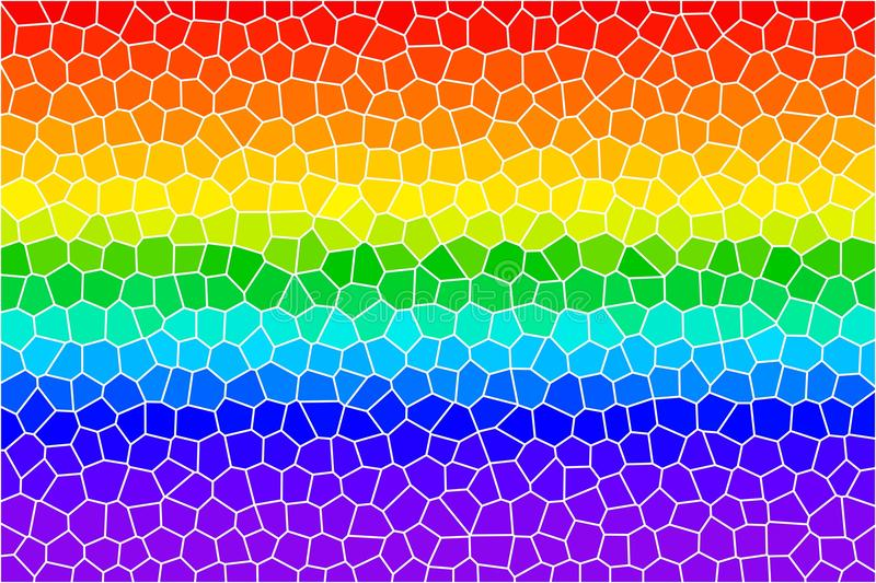 Rainbow lines stained glass vector illustration