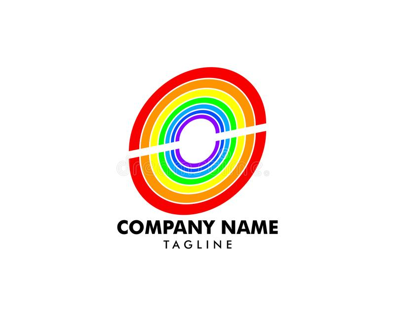 Rainbow Logo design vector template vector illustration