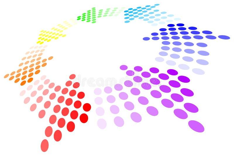 Rainbow Loop royalty free illustration