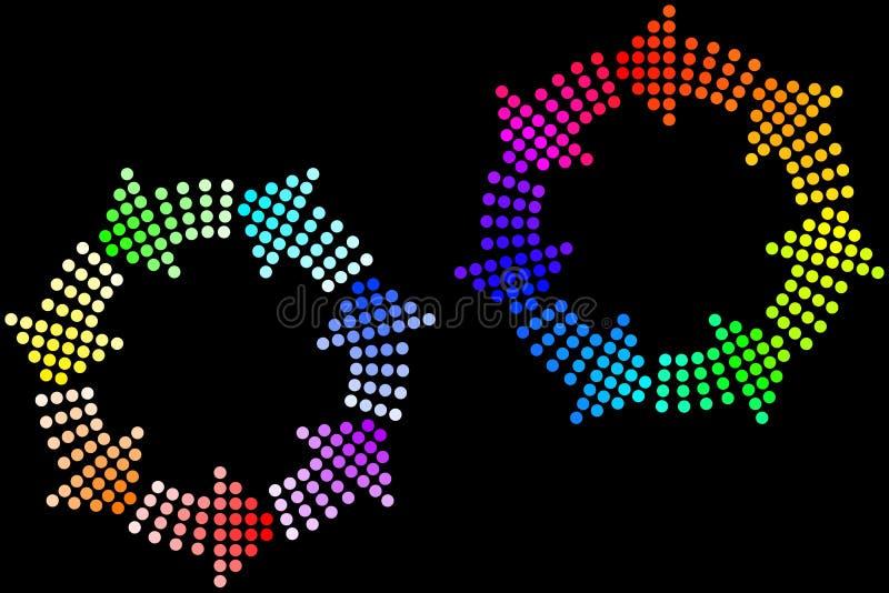Rainbow Loops stock illustration