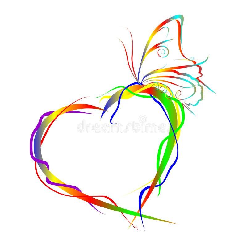 Free Rainbow Love Frame Stock Photos - 5379463