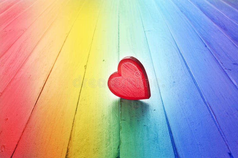 Download Rainbow Love Heart Background Stock Image - Image of love, loving: 60045149