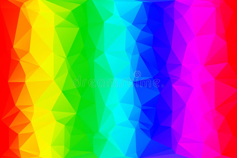 Rainbow low poly background vector illustration