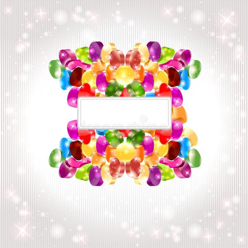 Rainbow lucido di colore della priorità bassa del cerchio della caramella illustrazione vettoriale