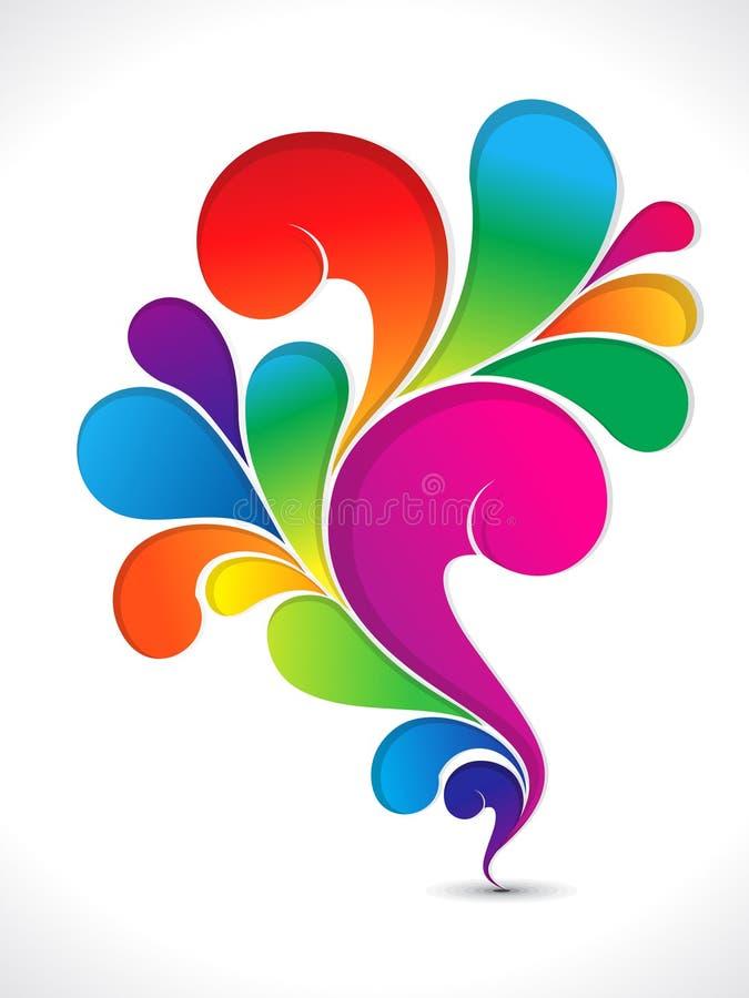 Rainbow lucido variopinto astratto floreale illustrazione vettoriale