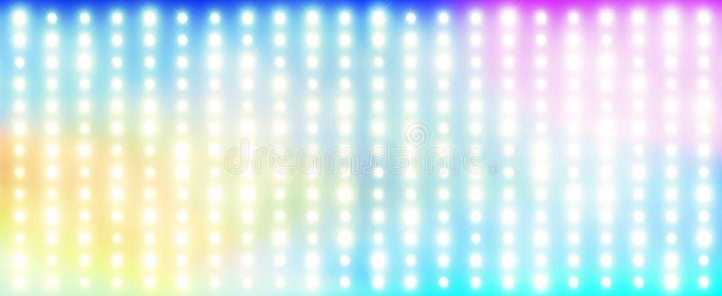 Rainbow Made Of Light Bulbs Stock Photo