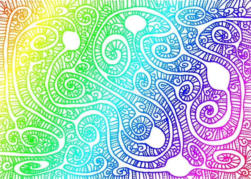 Rainbow Maze Wallpaper Background royalty free illustration