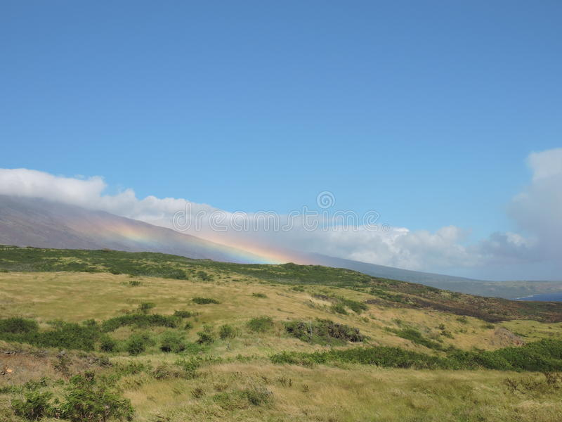 Rainbow on the mountain royalty free stock images