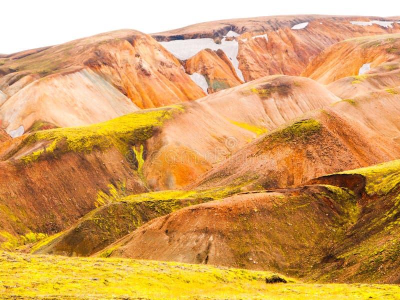 Rainbow mountains. Landmannalaugar rainbow mountains in Fjallabak Nature Reserve, Iceland stock image