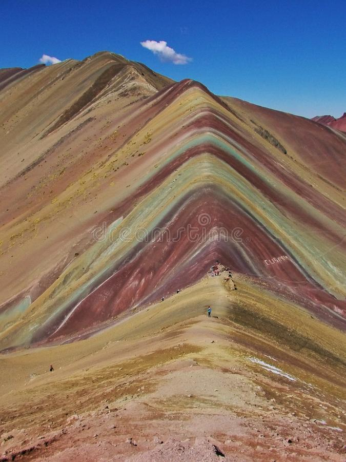 Rainbow Mountains Peru. Wundervolle Farben in 5000 m Höhe, in Rainbow Mountains bei Cusco stock photo