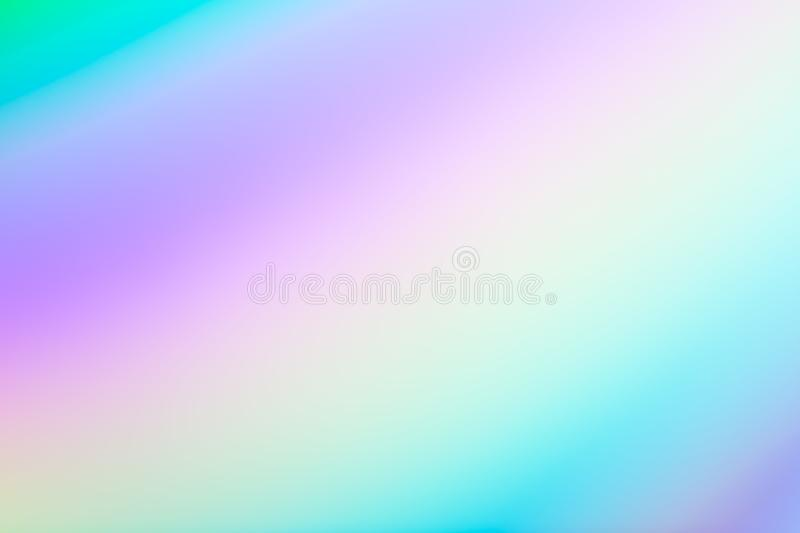 Rainbow multi-colored holographic foil abstract blurred background royalty free illustration