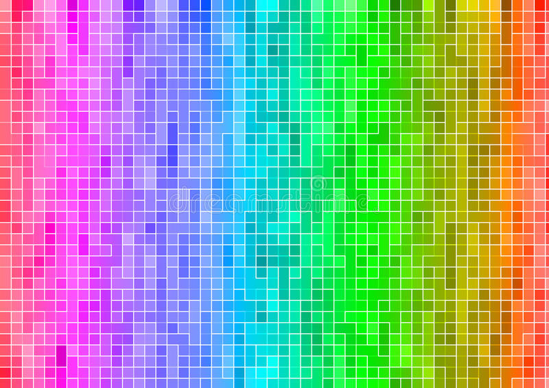 Rainbow Multicolor Abstract Pixel Wallpaper Royalty Free