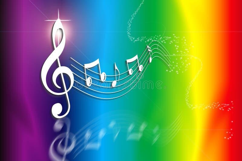 Rainbow Music Stock Illustration. Illustration Of