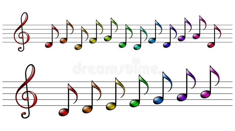 Download Rainbow music stock vector. Image of graphic, creativity - 18462057