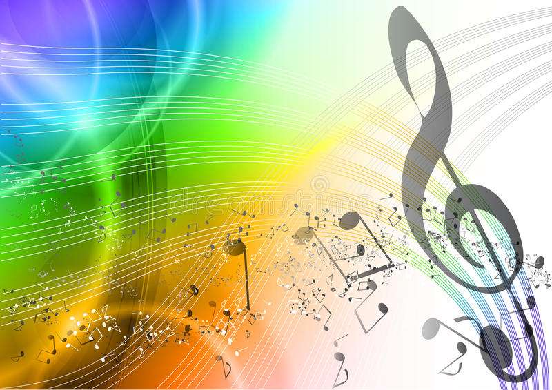 Download Rainbow music stock vector. Illustration of happy, abstract - 19663561