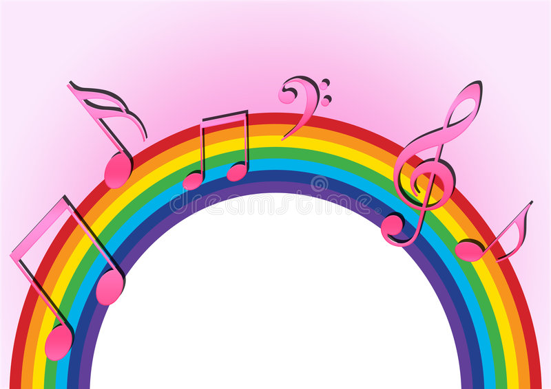 Download Rainbow music stock illustration. Illustration of creative - 6033246