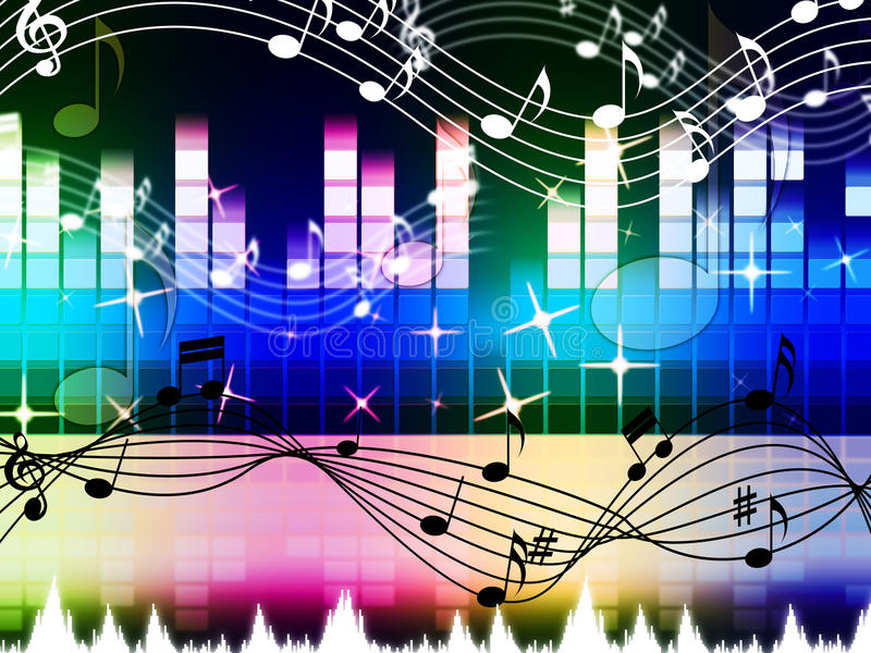Rainbow Music Stock Images: Rainbow Music Background Means Pop Rock Or Rap Stock