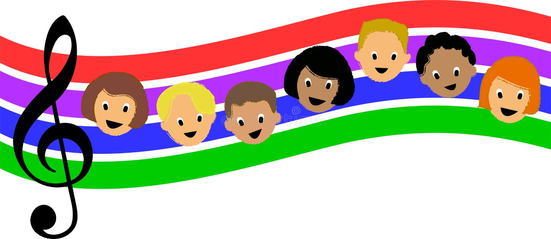 Rainbow Music Children/ai stock photo