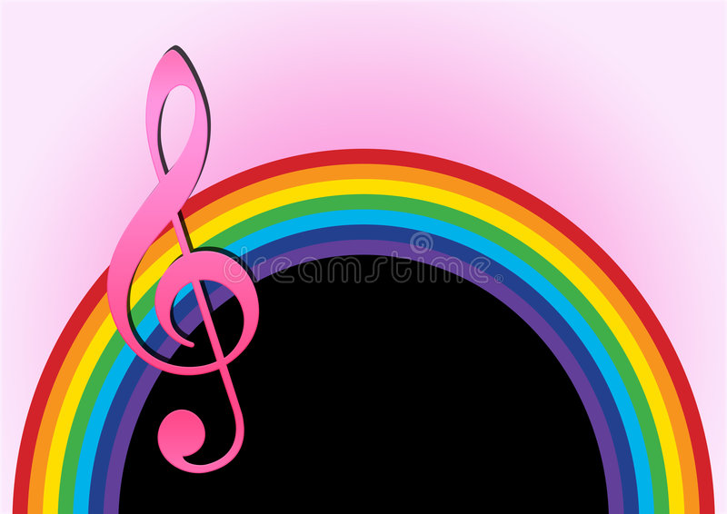 Download Rainbow with music note stock illustration. Illustration of modern - 6033252