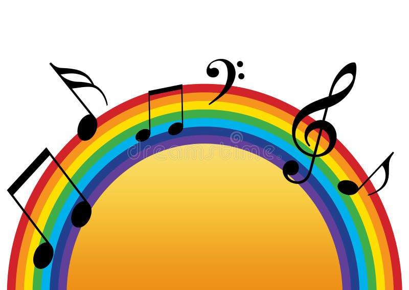 Rainbow Music Sun Stock Illustration. Illustration Of
