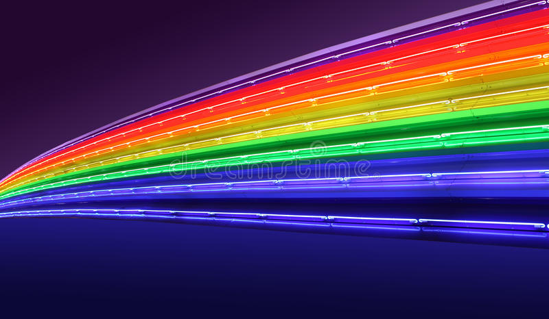 Rainbow neon royalty free stock photos