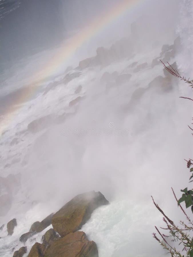 Rainbow at Niagara Falls royalty free stock images