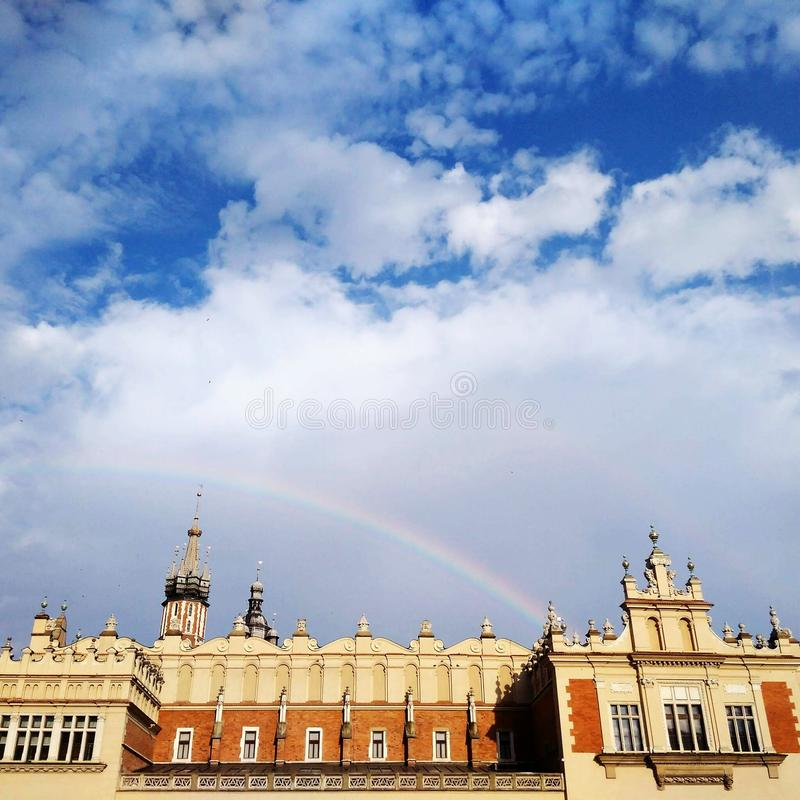 Rainbow in Old Town royalty free stock photos