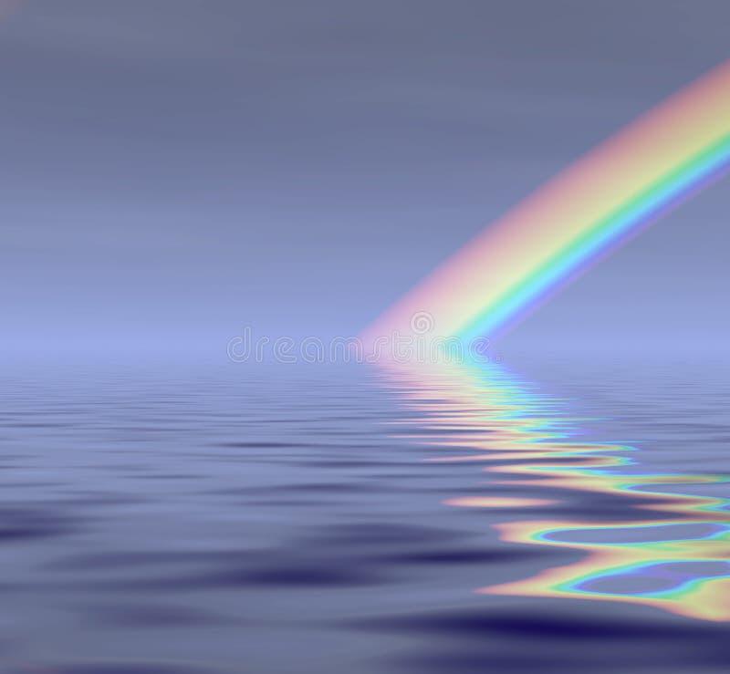 Rainbow in opacità illustrazione di stock