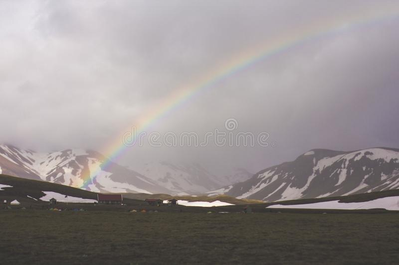 Rainbow Over The Mountain Free Public Domain Cc0 Image