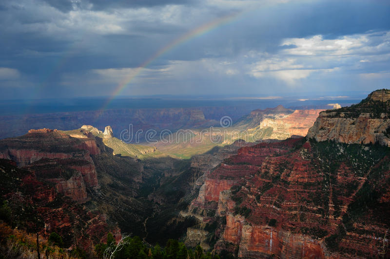 Download Rainbow Over Roosevelt Point Stock Image - Image: 15509475