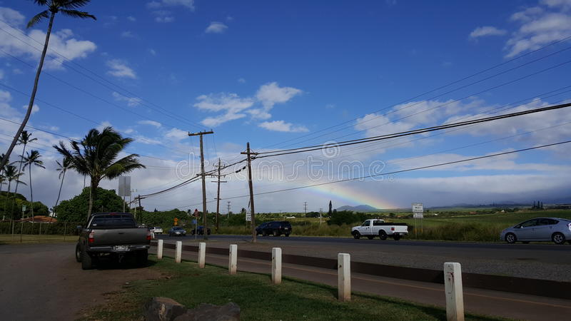Rainbow in Paia royalty free stock images