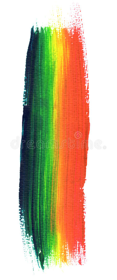 Download Rainbow paint stroke stock illustration. Image of brush - 11934502