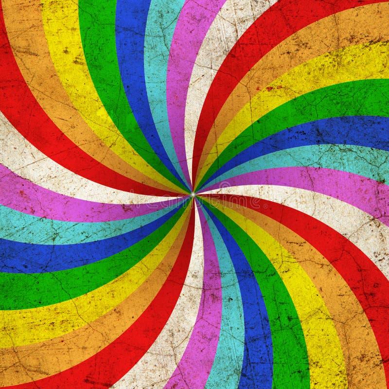 Rainbow painted royalty free illustration