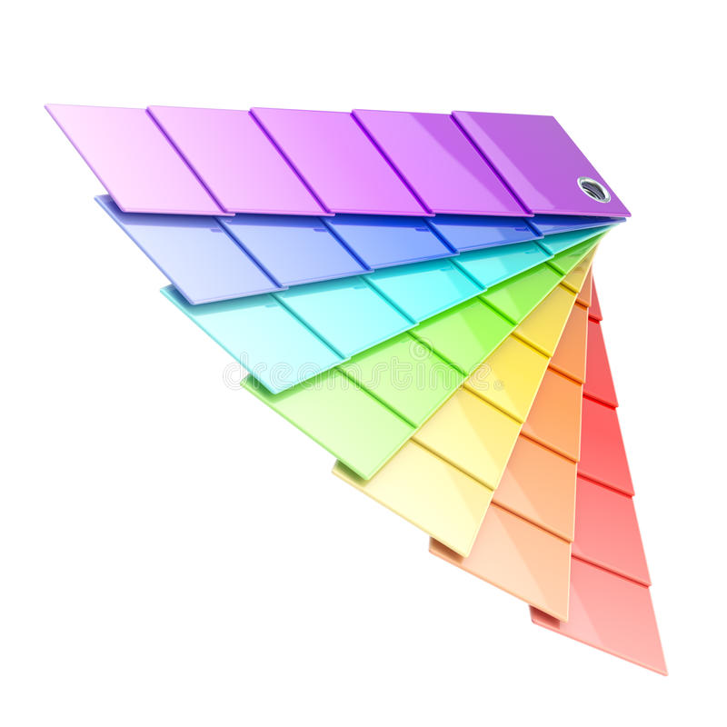 Rainbow palette plates isolated. Rainbow colored palette plates isolated on white stock illustration