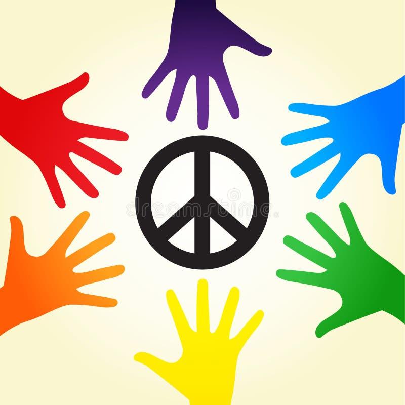 Rainbow peace royalty free illustration