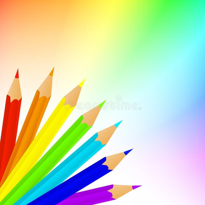Download Rainbow pencils stock vector. Image of multicolor, draw - 14437716