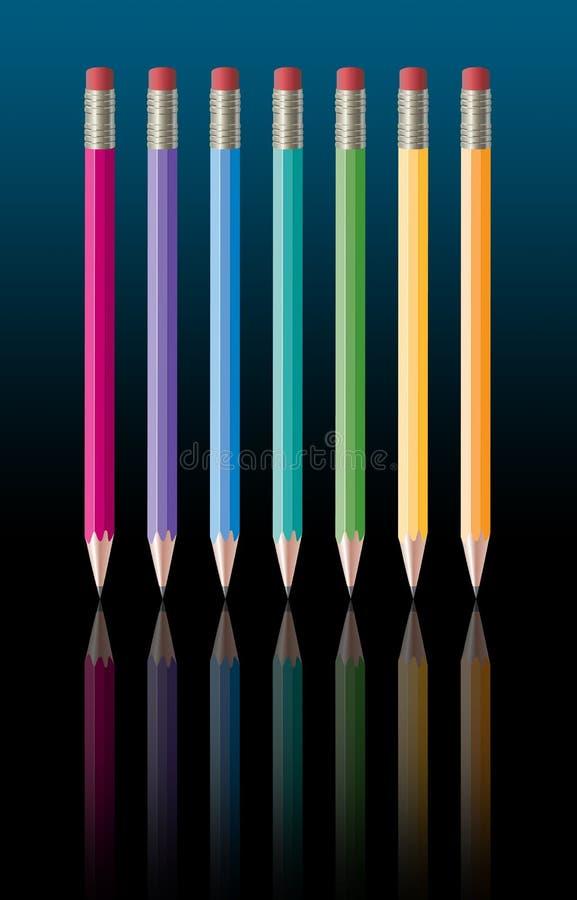 Rainbow-pencils.jpg illustration libre de droits